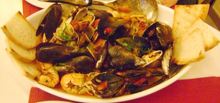 zuppa di pesce di mare